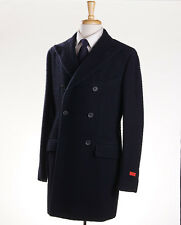 NWT $3895 ISAIA NAPOLI Navy Casentino Wool Coat Overcoat Slim Eu 50 (US 38-40)