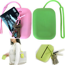 Key Chain Hasp Style Silicone Pouch Card Bag Case Gift Key Holder