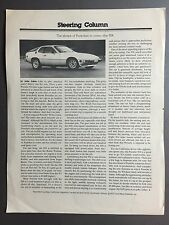 1977 Porsche 924 Coupe Showroom Advertising Sales Sheet Brochure RARE!! Awesome