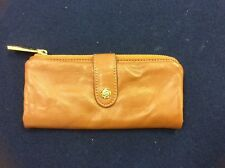 Beautiful Cognac  Leather Zippered  Wallet by Rough Roses...New with Tag