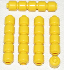 LEGO LOT OF 25 NEW PLAIN SOLID YELLOW MINIFIGURE HEADS PIECES