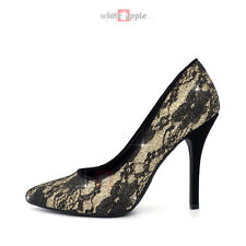 Women Classic Pointy Toe Leatherette High Heel Office Wedding Party Pump
