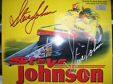 ++ AUTOGRAPHED STEVE JOHNSON, 1:9 SNAP-ON LTD COLLECTIBLE PRO STOCK MOTORCYCLE