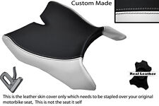WHITE & BLACK CUSTOM FITS MOTOHISPANIA RX 125 R 09-14 FRONT LEATHER SEAT COVER