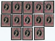 Stamps-1953 MALAYA Coronation Queen Elizabeth II Set 13 Malaya States Used (S-68