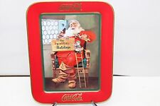 "FRANKLIN MINT COCA-COLA ""FOR SPARKLING HOLIDAYS"" CHRISTMAS SANTA RECTANGLE PLATE"