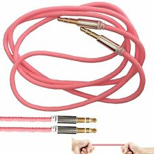 1M 3.5mm Jack Plug To Plug Male Audio Pink Cable For Headphone/MP3/iPod/iPhone