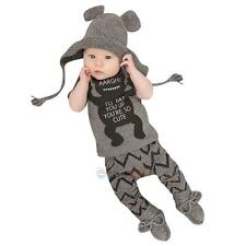Newborn Toddler Infant Baby Boy Girls Outfits Pants Trousers Suit Set Baby Grow
