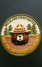 THE Smokey Bear Patch.  2004 WILDLAND FIRE FIGHTER .'ONLY YOU'