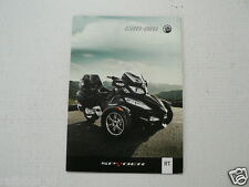 D480 BROCHURE PROSPEKT CAN-AM SPYDER RT & RS GERMAN 10 PAGES FOLDED OUT MINI-BOO