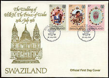 Swaziland 1981 Royal Wedding FDC First Day Cover #C15025