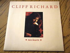"CLIFF RICHARD - TWO HEARTS   7"" VINYL PS"