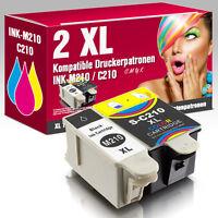 2 Patronen für Samsung CJX-1000 CJX-2000FW CJX-1050W INK-M210 M215 INK-C210