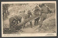 "Ca 1916 RPPC* WW1 LOADING A TRENCH MORTAR ""TOMMY"" GETTING READY SEE INFO"