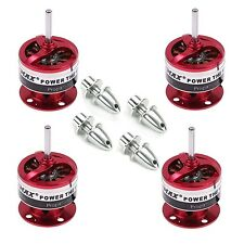 4x EMAX CF2822 1200KV Brushless Motor w/ Props Adapter for Airplane Quadcopter