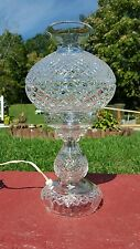 Outstanding Waterford Crystal Hurricane  Lamp