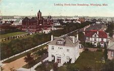 Canada Winnipeg - Broadway Looking North 1912 cover mailed postcard