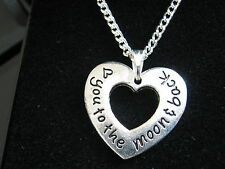 """20 x New Love You to the Moon & Back Silver Plated 18 """" Necklaces with Gift Boxs"""