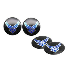 4pc U.S. Air Force USAF Car Steering Wheel Center Hub Cap Badge Stickers 56.5mm