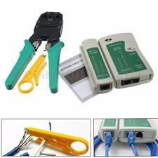 RJ45 RJ11 RJ12 CAT5 LAN Réseau Câble Crimp Tester Ethernet Tenaille Pince à Sert