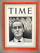 Time Magazine - March 16, 1942 ~Viceroy of India ~~ nice condition