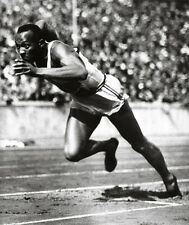 Jesse Owens Poster, On the Starting Block, Track and Field, Olympic Champion