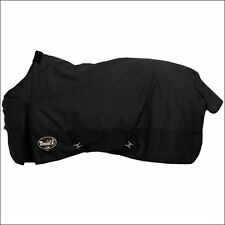 """69"""" TOUGH-1 600D WATERPROOF POLY HORSE SUPER THICK  TURNOUT BLANKET BLACK"""