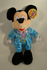 "15"" Mickey Mouse in Blue Tuxedo Suit Plush Stuffed Figure Disney World On Ice"