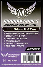 Mayday Games Standard USA Game Purple label Card Sleeves (56mm X 87mm) (100)