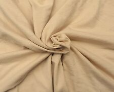 """Beige Bamboo Cotton Fabric Jersey Knit by the Yard 72""""W 5/16"""