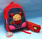 CUTE PUCCA BACK PACK BAG & PENCIL CASE girls school bag rucksack character