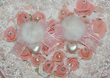 Pink pom pom pearl earrings and cute bow Japanese lolita fashion Larme style