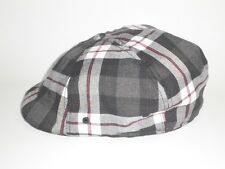 NEW Kangol PLAID FLEX 504 IVY Hat Red Black S/M ($37) Cap Golf Drivers Newsboy