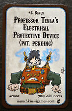 Munchkin Steampunk Professor Teslas Electrical Protective Device Promo Game Card