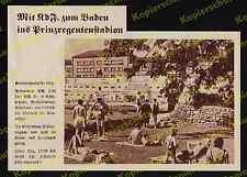 or. Reklame Prinzregentenstadion Schwimmbad München Bogenhausen Architektur 1938