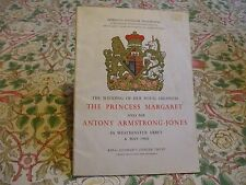 Princess Margaret, Antony Armstrong Jones wedding 1960 appro souvenir programme