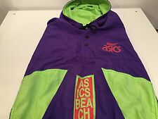 Vintage 90's ASICS NYLON BEACH VOLLEYBALL Jacket Made in CANADA Sz L EXEL Cond.