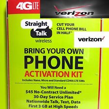 STRAIGHT TALK VERIZON SIM Card Activation Kit For iPhone 7+, 7, 6s+, 6s, 6+, 6