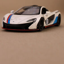 2013 White McLaren P1 Model Sports Racing Car Die-Cast 1:38 Scale Detailed