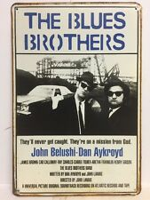The Blues Brothers Big Vintage Retro Metal Tin Sign Movie Poster Bar Home 30x40