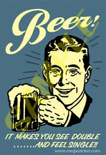 Beer #04 Sticker Antique Tin Sign Artwork style for Toolbox Coozie Laptop Helmet