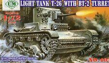 T 26 / BT 2 - WW II SOVIET INANTRY TANK (LENINGRAD 1942) 1/72 UM RARE