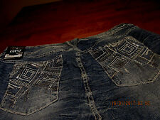 ARIYA/AMETHYST   womens plus size 24 JEANS designed pockets METALLIC BLING!