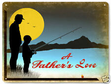 Dad Father's gift metal sign son present gift / fishing vintage style decor 155
