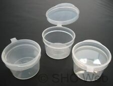 10ml Hinged Lid Plastic Pots x 10 (Food/Craft/Paint Storage Containers)