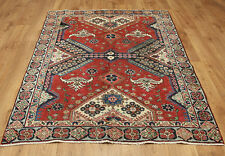 Traditional Vintage Wool Handmade Classic Oriental Area Rug Carpet 167 X 125 cm