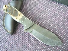 Damast Messer Jagdmesser Damastmesser Widderhorn 268 Gramm Handarbeit Top Neu