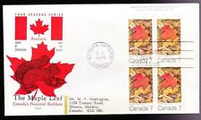 Canada 1971 FDC sc#537 Maple Four Seasons-Autumn, UR, Cole cachet