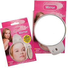 3X MAGNIFYING BATHROOM MAKE UP MIRROR COMPACT DOUBLE SIDED SHAVING WALL MOUNTED