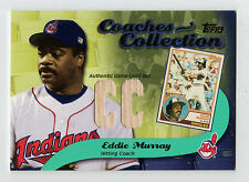 2002 Topps Coaches Collection Eddie Murray Indians Game Used Bat BV$60